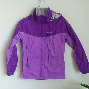 Marmot purple rain coat jacket large